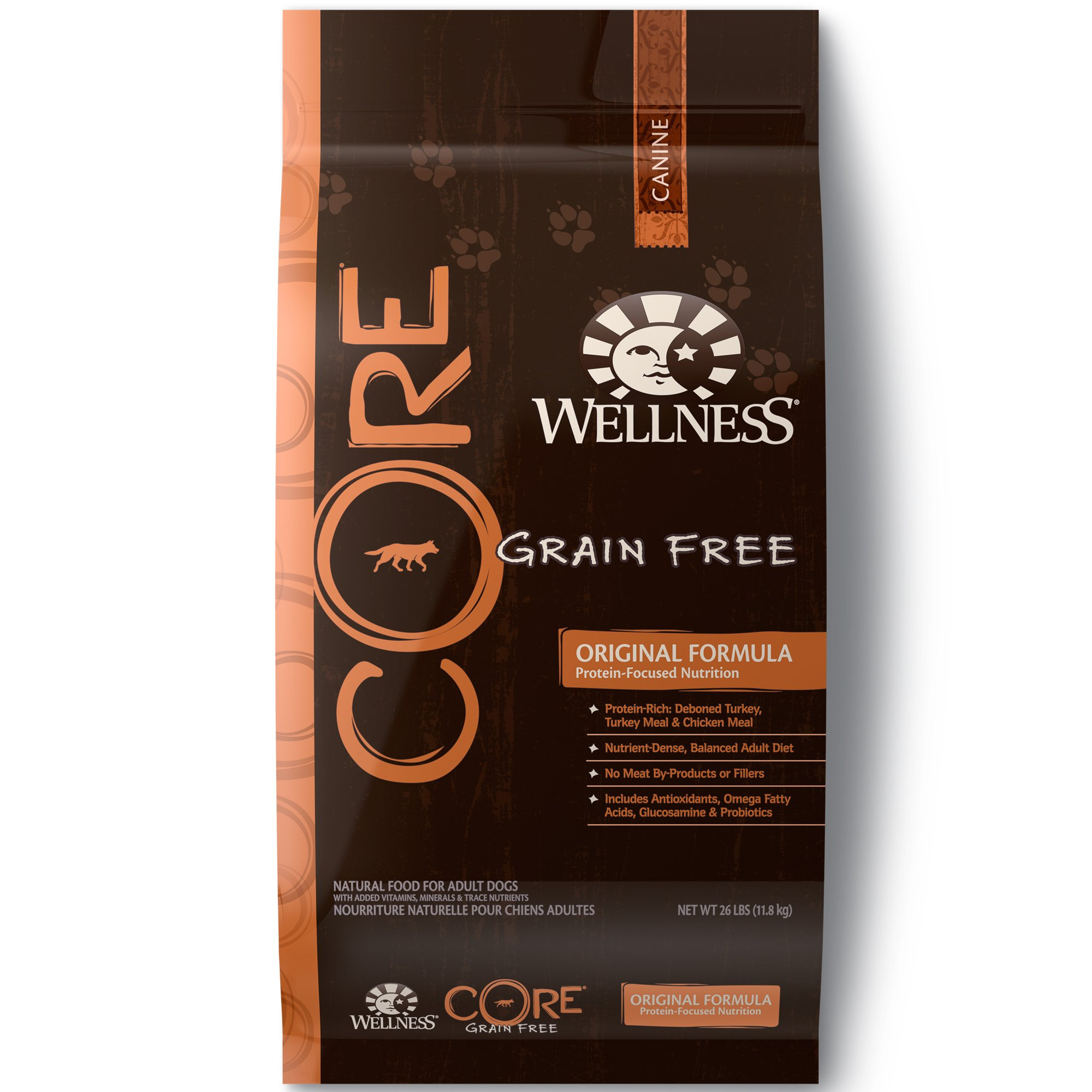 Wellness Core® Natural Grain Free Dry Dog Food, Original Turkey & Chicken, 26-Pound Bag