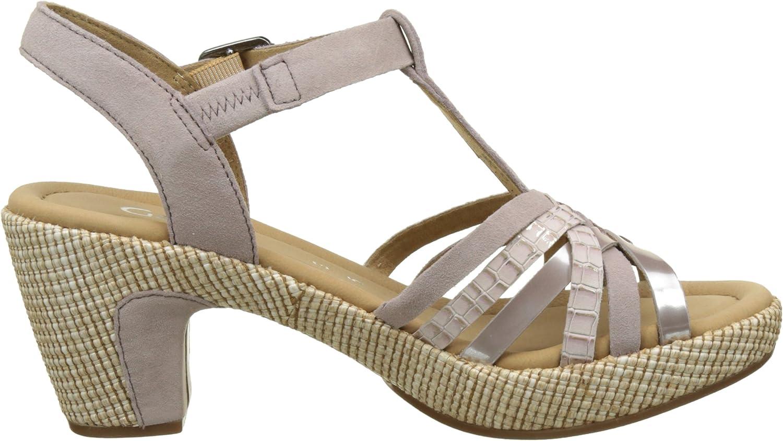 Gabor Shoes Comfort, Sandali con Zeppa Donna Beige Nude Ba St eofAtK