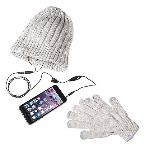 Celly Winter Kit Guanti Touch Screen e Cappello in Maglia con Auricolari  Integrati 259d11f47789