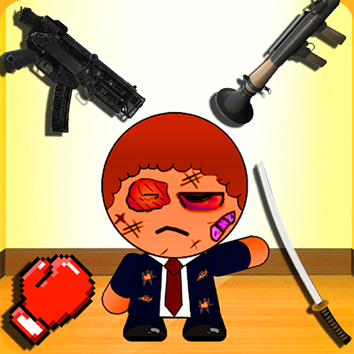 Earn Points - Kill The Bad Stickman Boss 1 (a ragdoll physics style blast game)