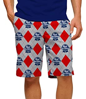 3ae8fb1542 Loudmouth Golf-Cotton/Spandex-John Daly Fun Beer PBR Pabst Blue Ribbon Men's