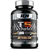 T5 XTREME for Men and Women - HIGH STRENGTH in CHROMIUM which contributes to normal macronutrient METABOLISM & the maintenance of normal BLOOD GLUCOSE LEVELS - 180 Vegetarian Capsules