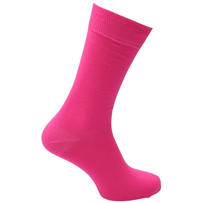 6244e6ffc0da8 Mens Plain Neon Coloured Socks (1 Pair) (US 7-12) (Neon Pink ...