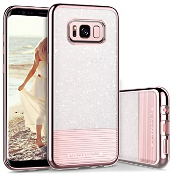 BENTOBEN Funda Samsung Galaxy S8 Plus, Funda Galaxy S8 Plus Silicona, Cover Case Brillante Carcasa Combinada 2 en 1 PC + TPU Anti-Arañazos Fundas para ...