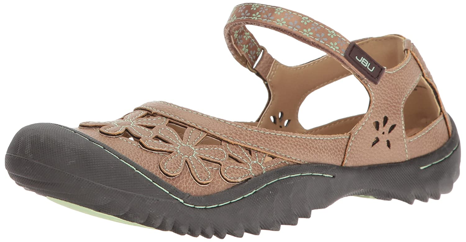 JBU by Jambu Women's Wildflower Mary Jane Flat B01LYB4OSK 9 B(M) US|Espresso