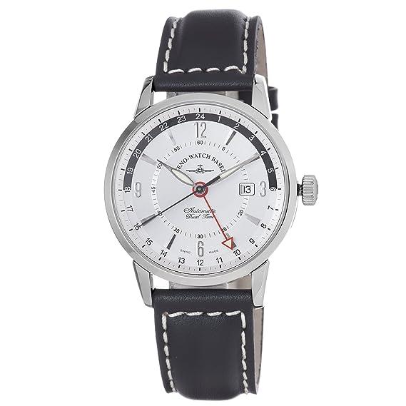 Zeno-Watch Reloj Mujer - Magellano GMT (Dual Time) - 6069GMT-g3: Amazon.es: Relojes