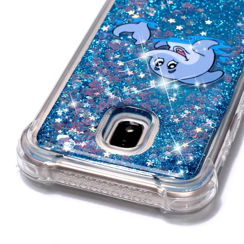 Klassikaline Flie/ßen Fl/üssig Bling Dynamisch Glitzer Anti-Rutsch Kratzfest Silikon Schutz/ülle Samsung Galaxy J3 2017 - SM-J330 H/ülle SM-J330 Transparent Handy H/ülle Schutzh/ülle Etui Bumper f/ür Samsung Galaxy J3 2017