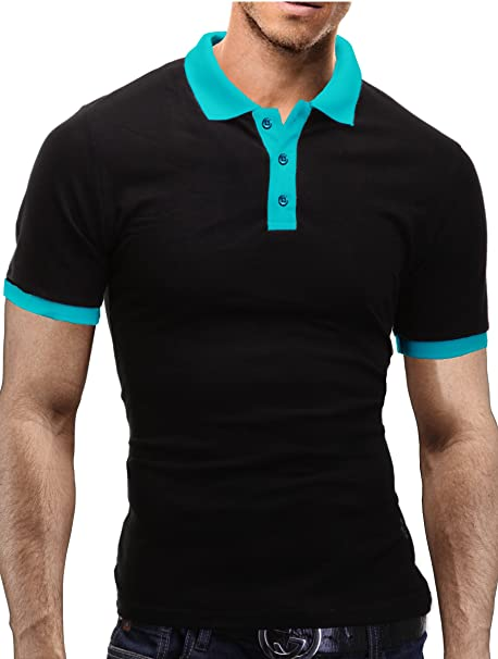 info for 96542 30be4 Merish Poloshirt Herren Kontrastfarben T-Shirt Modell 1025