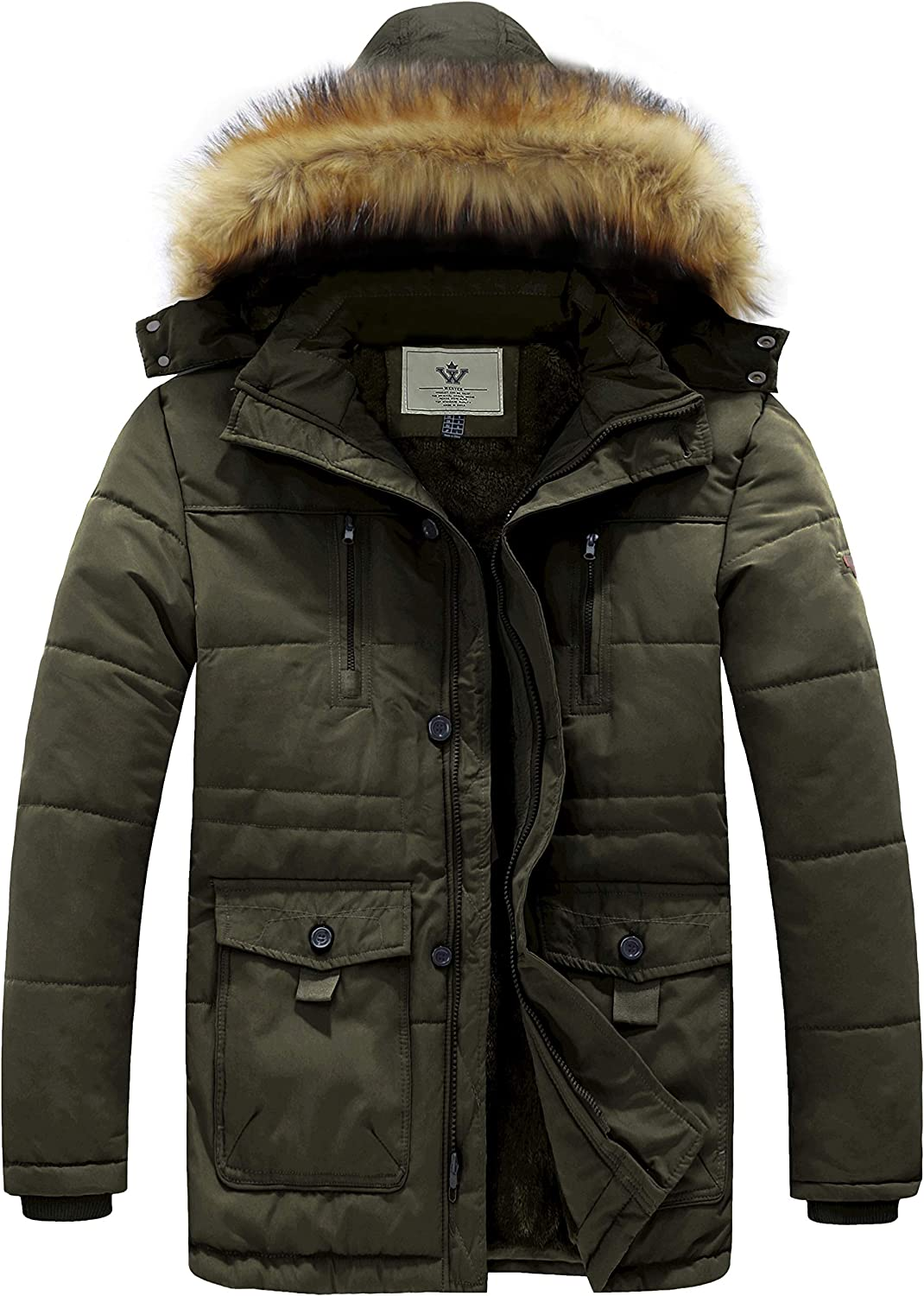 WenVen Men's Hooded Warm Special sale item Winter Jacket At the price of surprise Coat Parka
