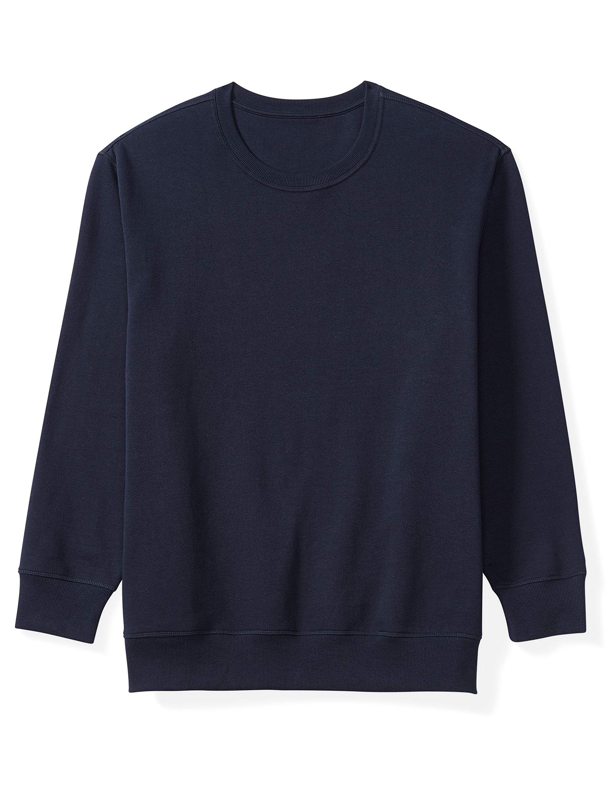 Amazon Essentials Men's Big and Tall Crewneck Fleece Sweatshirt fit by DXL, Navy, 4X by Amazon Essentials