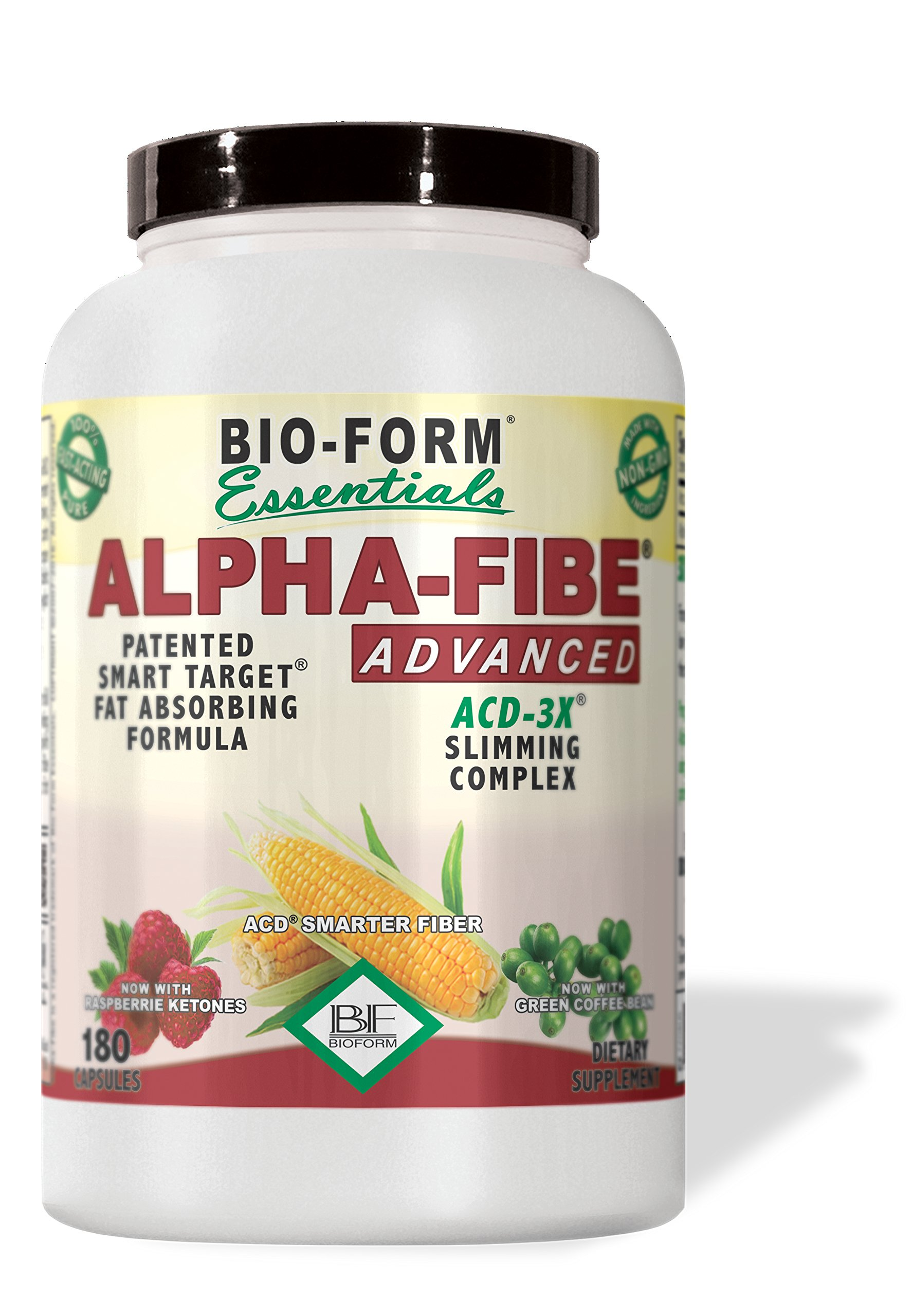NEW Alpha-Fibe Advanced ACD-3X Slimming Complex (180 Fast-Acting Capsules) With Raspberry Ketones & Green Coffee Bean by Bio-Form Essentials