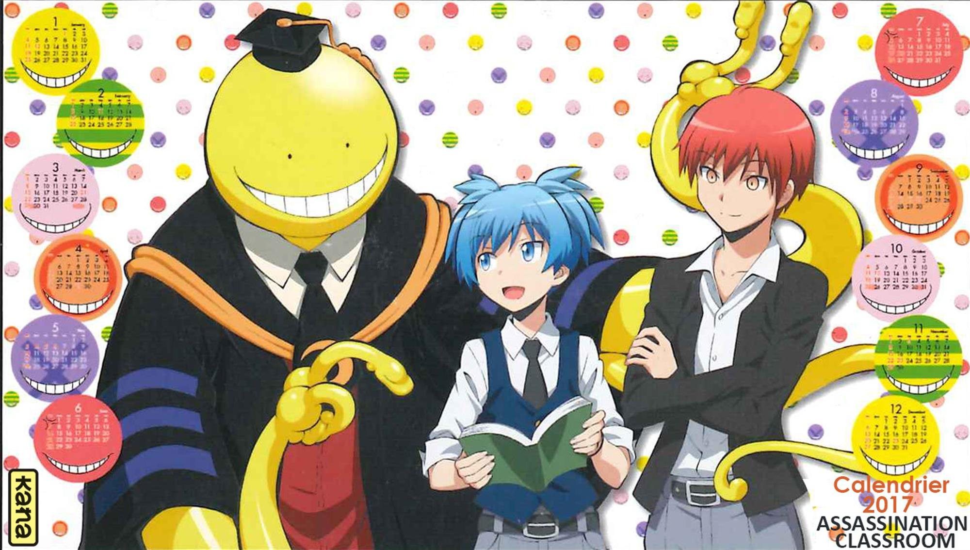 Koro-sensei, Nagisa, and Karma Assassination Classroom