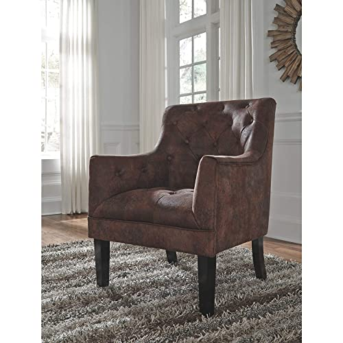 Signature Design by Ashley – Drakelle Accent Chair – Casual – Faux Leather – Brown