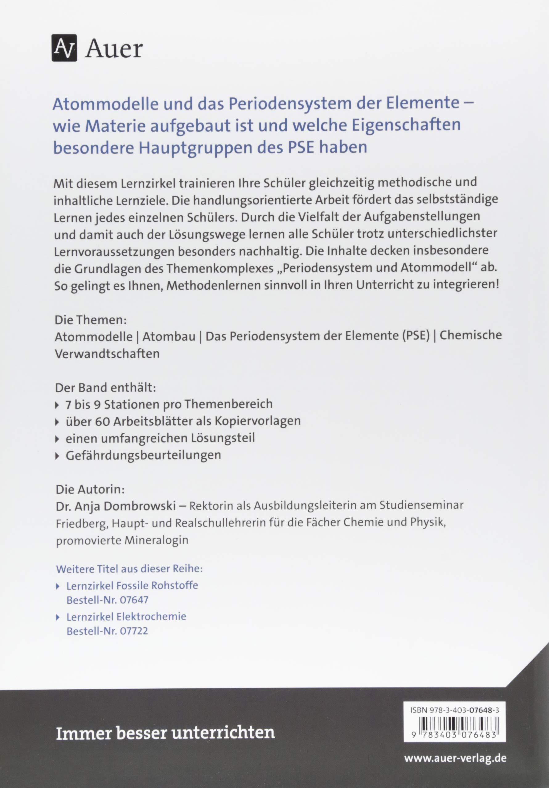 Lernzirkel Periodensystem und Atommodell: Handlungsorientierter ...