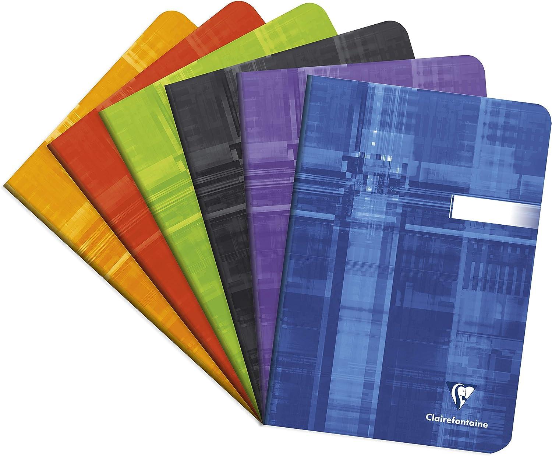 Clairefontaine 3652/C/ /Lot de 20/Hefte gehefteter A5/kariert 5/x 5/48/Seiten verschiedene Farben