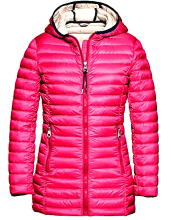 on sale 58c35 e8a59 Reset Mädchen Kinder Daunenjacke Longer Ultra Light Down Jacket Sommer  Fuchsia Rosa Gr. 128-176 8-16 Jahre