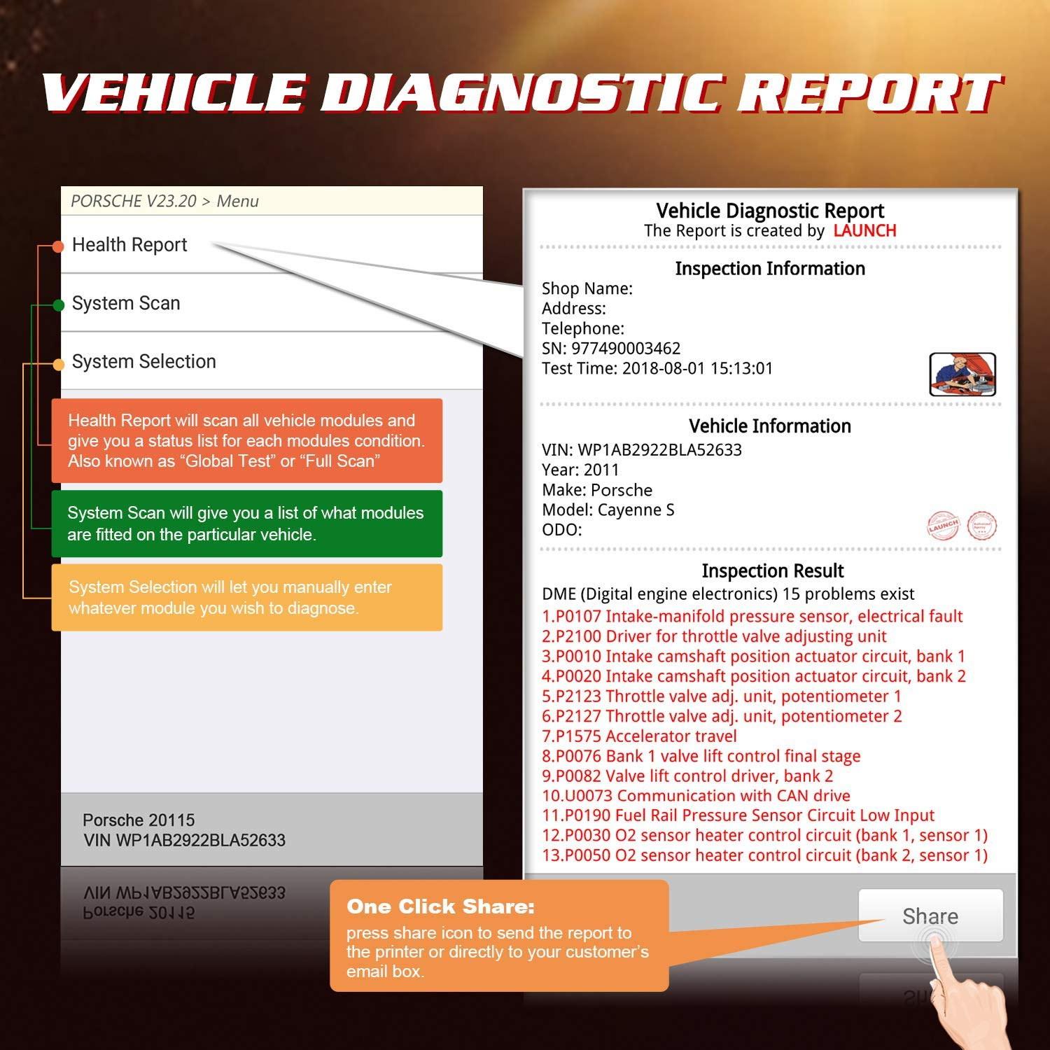 LAUNCH X431 CRP429C OBD OBD2 Scanner ABS SRS TCM ENG Code Reader Automotive Diagnostic Tool with Oil Reset,TPMS Reset, ABS Bleed, Injector Coding, IMMO, EPB, BMS, SAS, DPF,TPS by LAUNCH (Image #5)