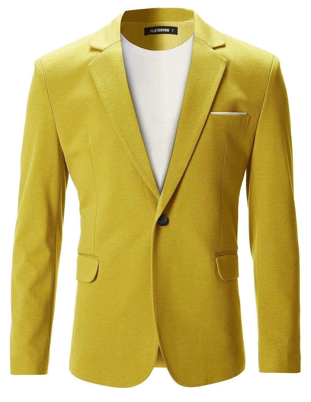 TALLA M. FLATSEVEN Chaqueta Blazer Slim Fit Casual Premium Hombre