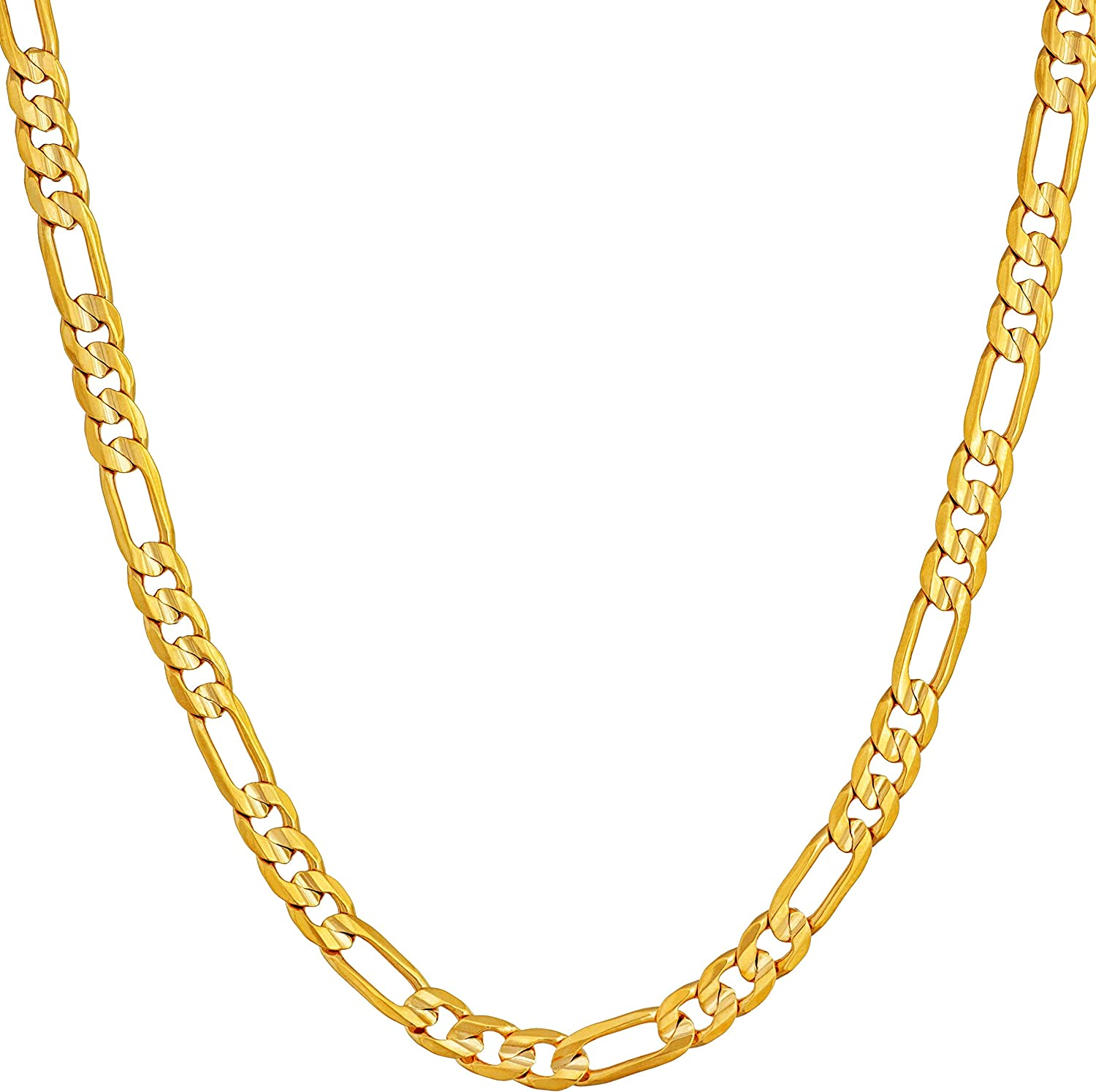 24K 17.5 Inch Real Gold Plated Figaro Necklace Chain for Jewelry Necklace Making 17 12 x 332 x 164 Inches