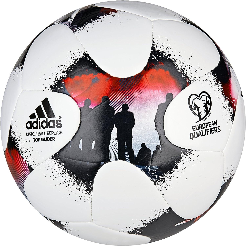 adidas Europeanqgli Balón de Fútbol, Hombre, (Blanco/Rojsol/Negro ...