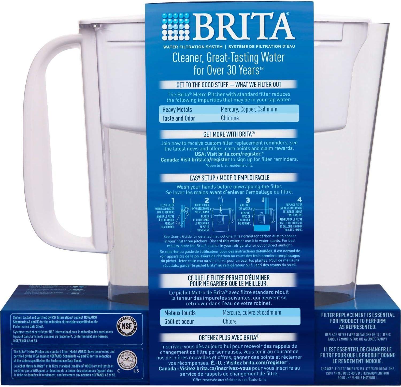 Brita 5 Cup BPA Free Water Filter Pitcher
