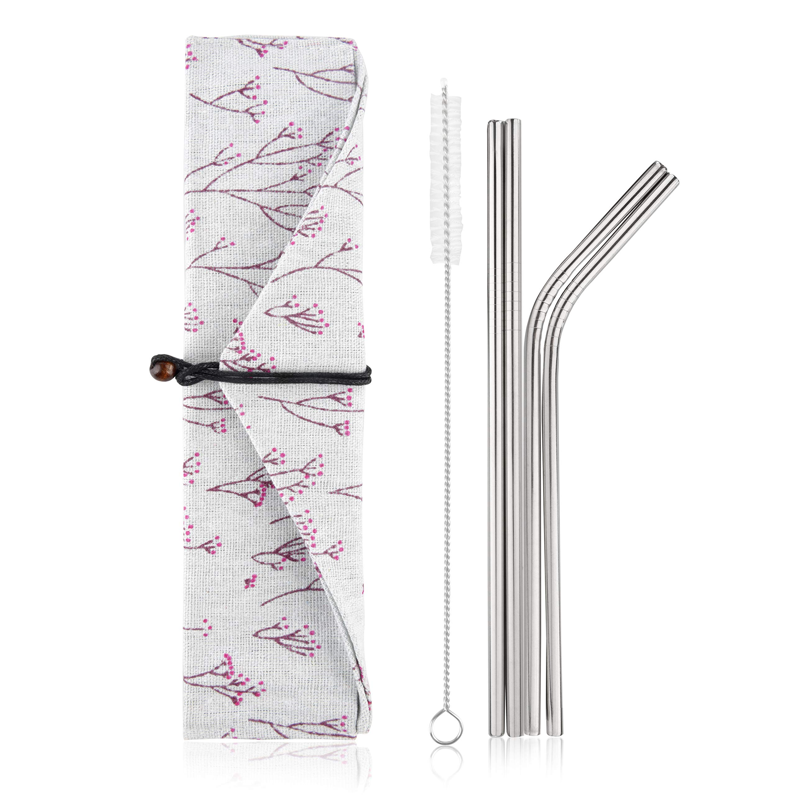Simply Eco Stainless Steel Reusable Metal Straws.