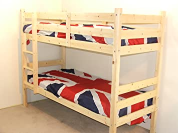 3fcd55d6ac2d Image Unavailable. Image not available for. Colour: Heavy Duty Bunk Bed -  Seperates to make two single beds 3ft Bunkbed