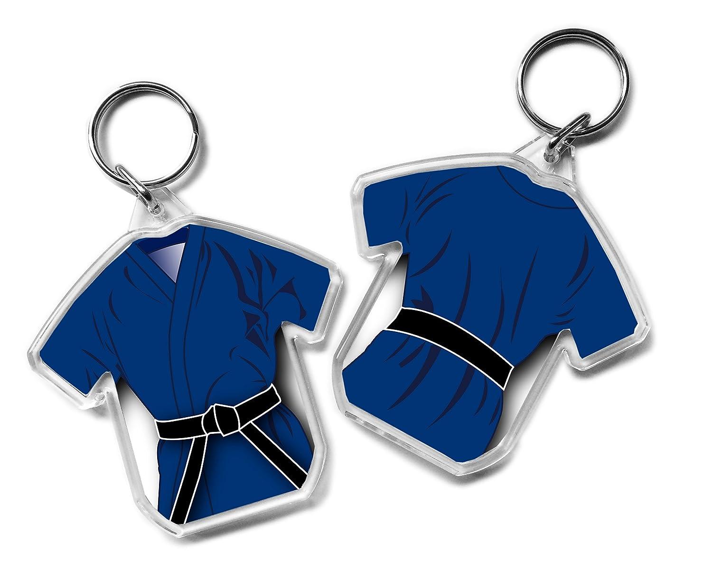 Llavero en forma de cinturón negro regalo, Gi Gi, Karate, Kickboxing, Judo, Ju Jitsu, clasificación Pass regalo Purpleproducts