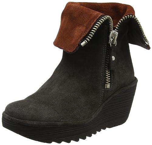 Fly London Women's YEX668FLY Boots, Blue (Diesel/Brick), 2.5 UK 35