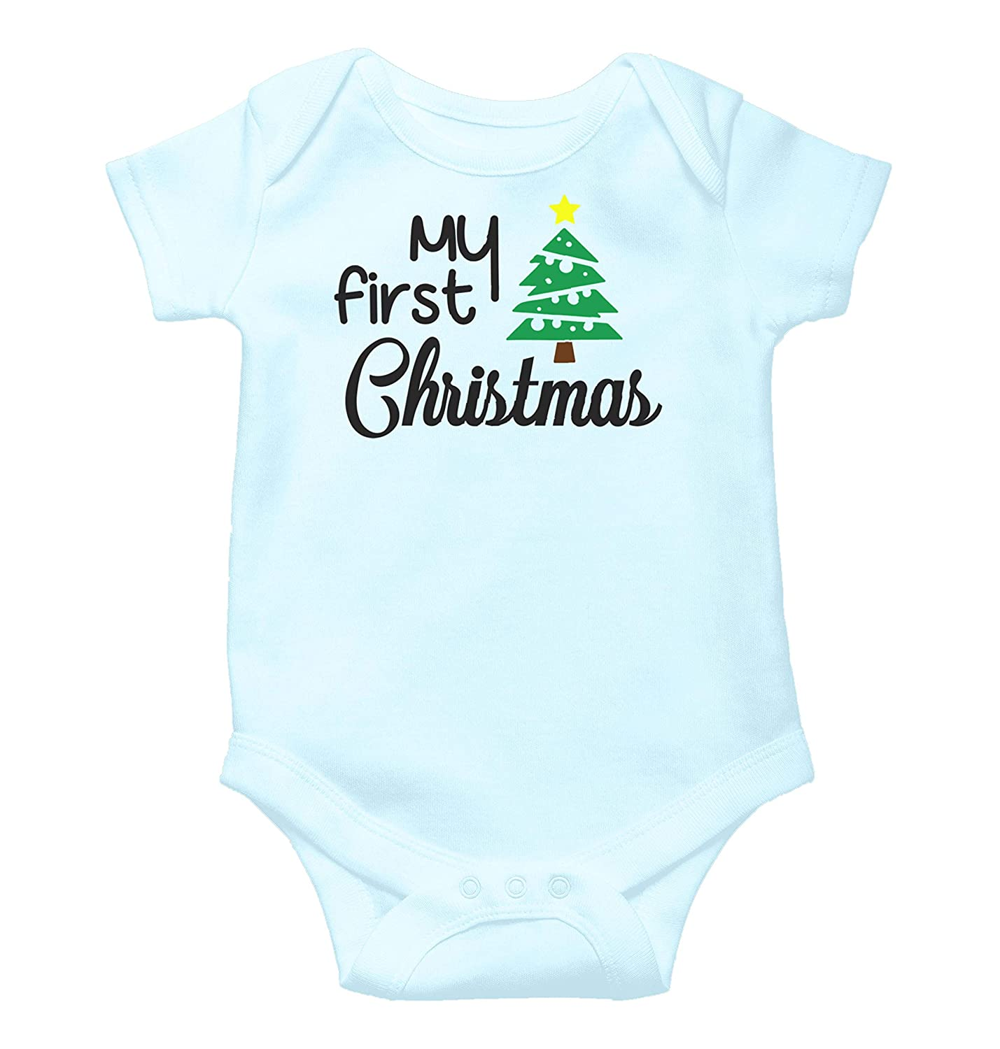Witty Fashions My First Christmas Xmas Tree - Santa Gift - Cute Baby Bodysuit