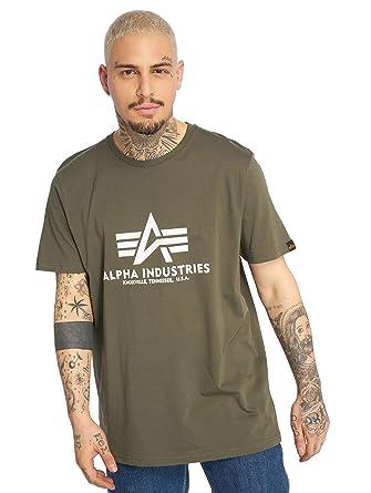 0501a6dde525 Alpha Industries Men T-Shirts Basic Olive L  Amazon.co.uk  Clothing