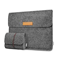 "Inateck Laptop Sleeve Case Compatible MacBook Pro 13 Case 2018/2017/2016 (A1989/A1706/A1708)/MacBook Air 2018/Microsoft Surface Pro 6/5/4/3 Sleeve Case, iPad Pro 12.9"" - Dark Gray"