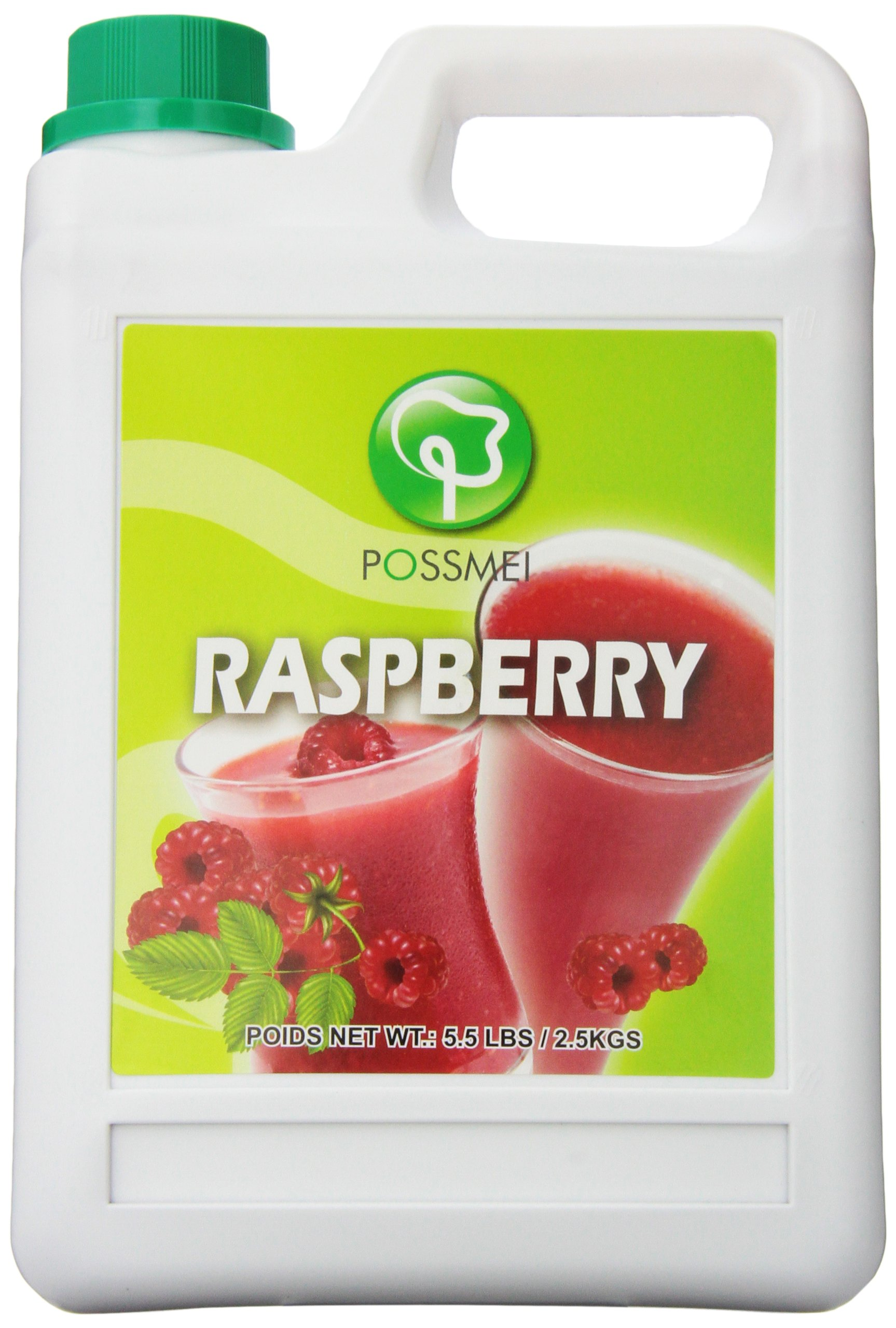 Possmei Flavored Syrup,  Raspberry, 5.5 Pound by Possmei