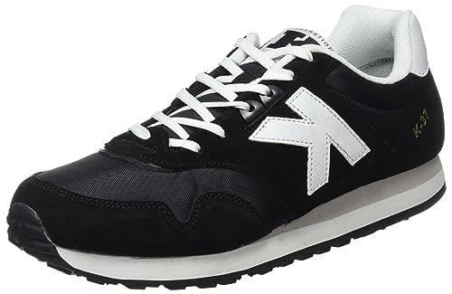 Kelme K-37, Zapatillas para Hombre, Negro (Black/Blanco), 44 EU