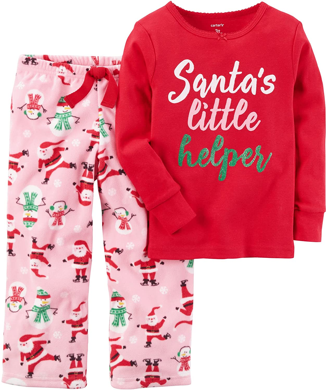 4d02c4343d07 Amazon.com  Carter s Girls 2 Piece Fleece Pajamas  Clothing