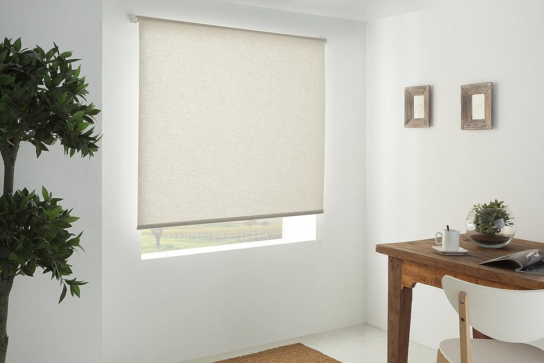 Blindecor 110311200-Store Enrouleur Lisse Transparent 100 x 200 cm Lin