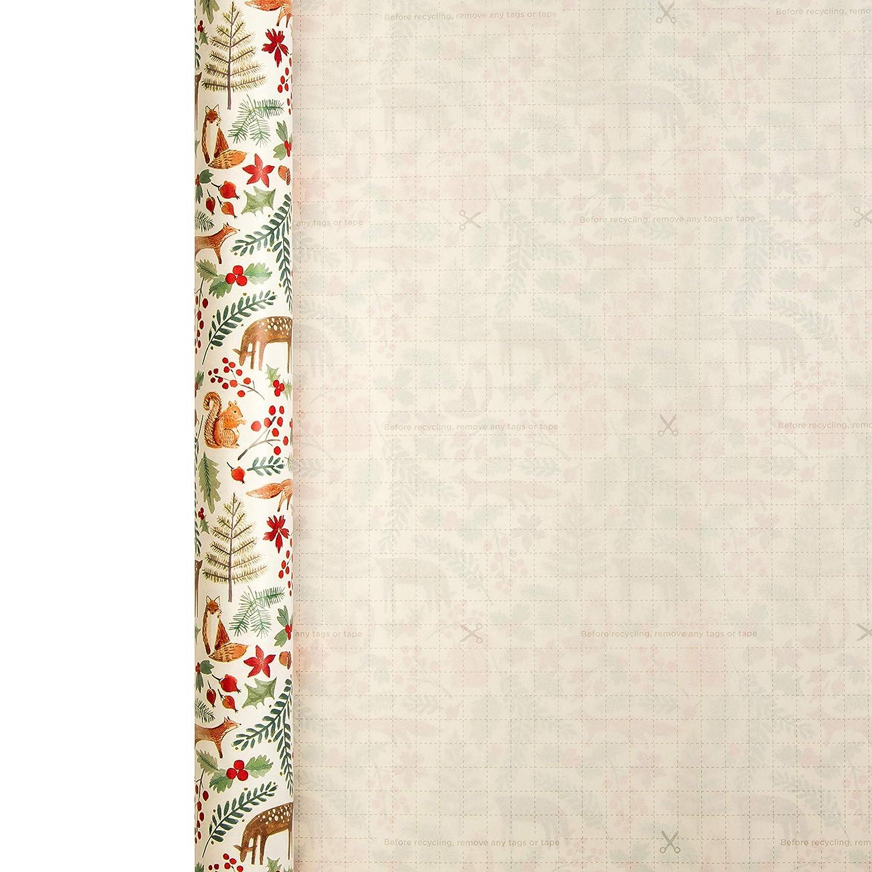 Hallmark Rouleau de papier cadeau de No/ël Motif for/êt dhiver 3 m