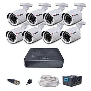 iBall 2.0 MP HD CCTV Camera with 8 Channel HD DVR Kit (Multicolour) Dome Cameras at amazon