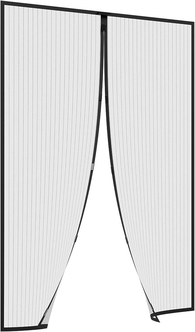 Moustiquaire Aimantde Porte Rideau Antimoustique El/égant Parfait Pour Porte,Patio Emp/êche de Passer les Moustiques et Autres Bestioles Rideau Moustiquaire Magn/étique 90 * 210cm//black