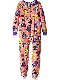 Komar Kids Girls  Big Plush Velour Fleece Footed Blanket Sleeper Pajama 90ec8c3e5