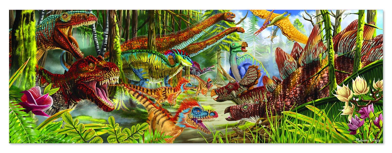 Melissa /& Doug Dinosaur World Jumbo Jigsaw Floor Puzzle 200 pcs, over 4 feet long