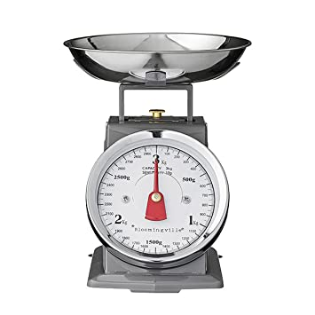 Amazon.com: Bloomingville Metal Kitchen Scale, Black: Kitchen & Dining