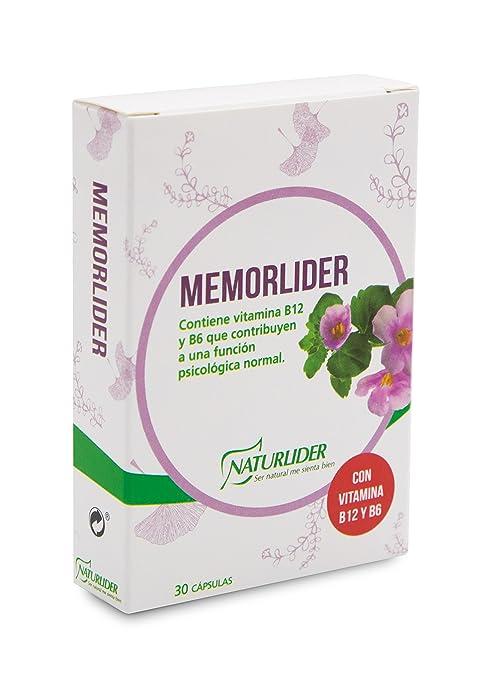 Naturlíder Memorlíder Suplementos para Sistema Nervioso Central y Memoria - 30 cápsulas