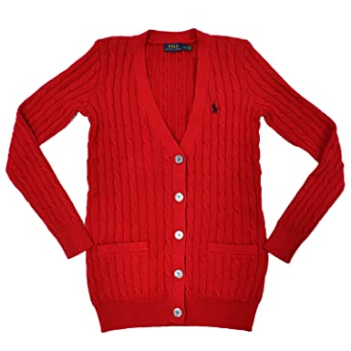Polo Ralph Lauren Mujer Cable Knit Buttoned Cardigan: Amazon.es ...