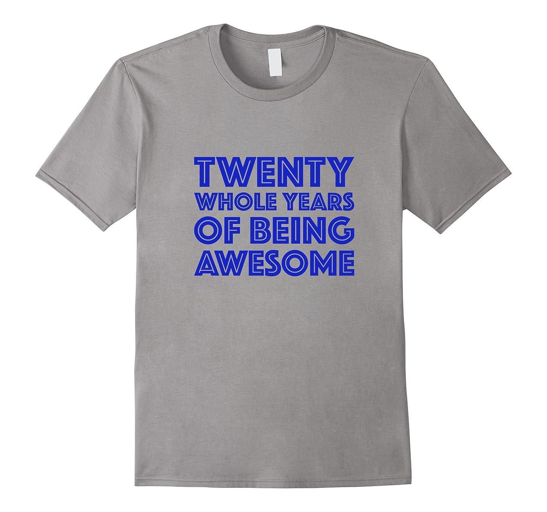 20th Birthday Shirt Gift Men Age 20 Year Old Mens Tshirt Boy-ANZ