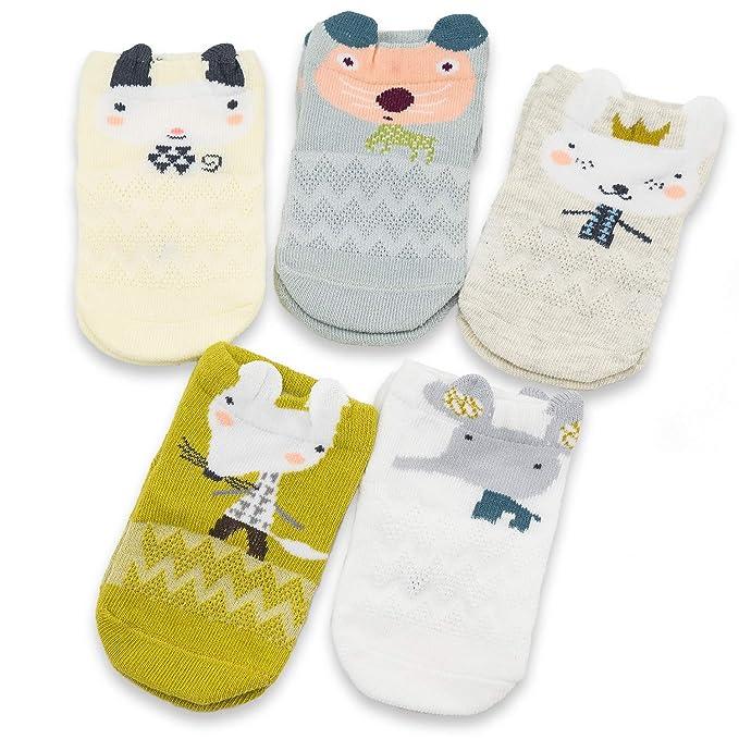 Amazon.com: Calcetines de bebé para niños, 5 unidades ...