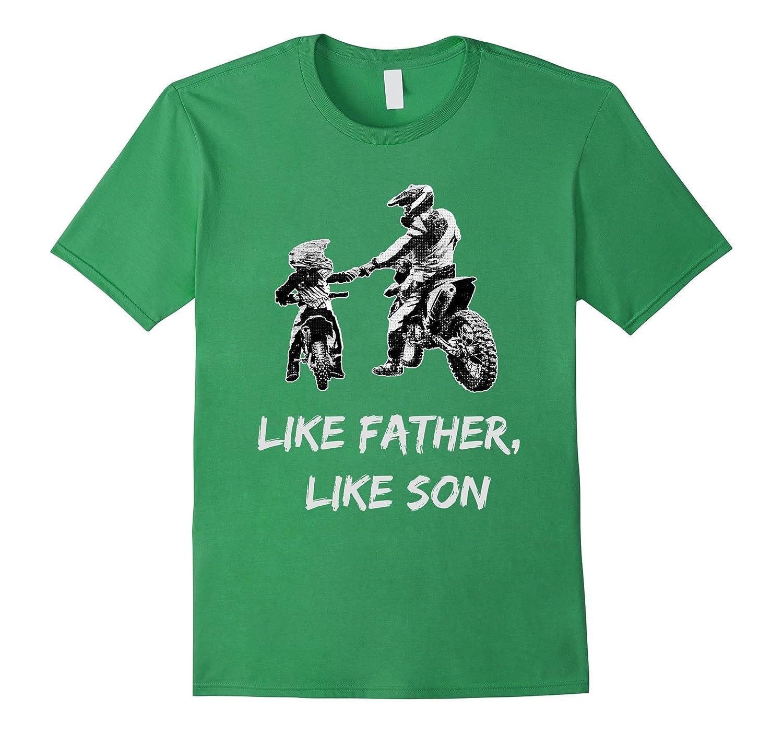 Kids Like Father Motocross T Shirt-Tovacu