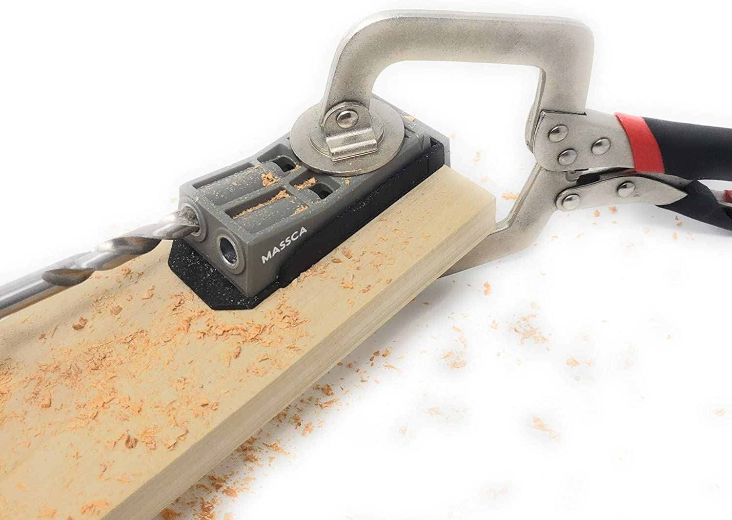 Massca Pocket Hole Jig Jig only Perfect for Joinery Woodworking DIY Carpentry Projects.