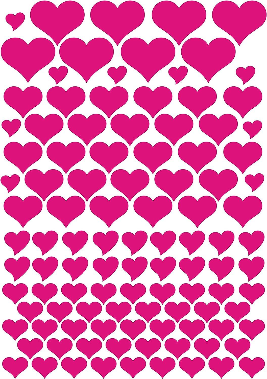 das-label Aufkleber T/üten Muttertag Geschenkkartons Valentinstag 106 Herzen braun Geburtstag |zum bekleben von Autos Indoor matt Scrapbook