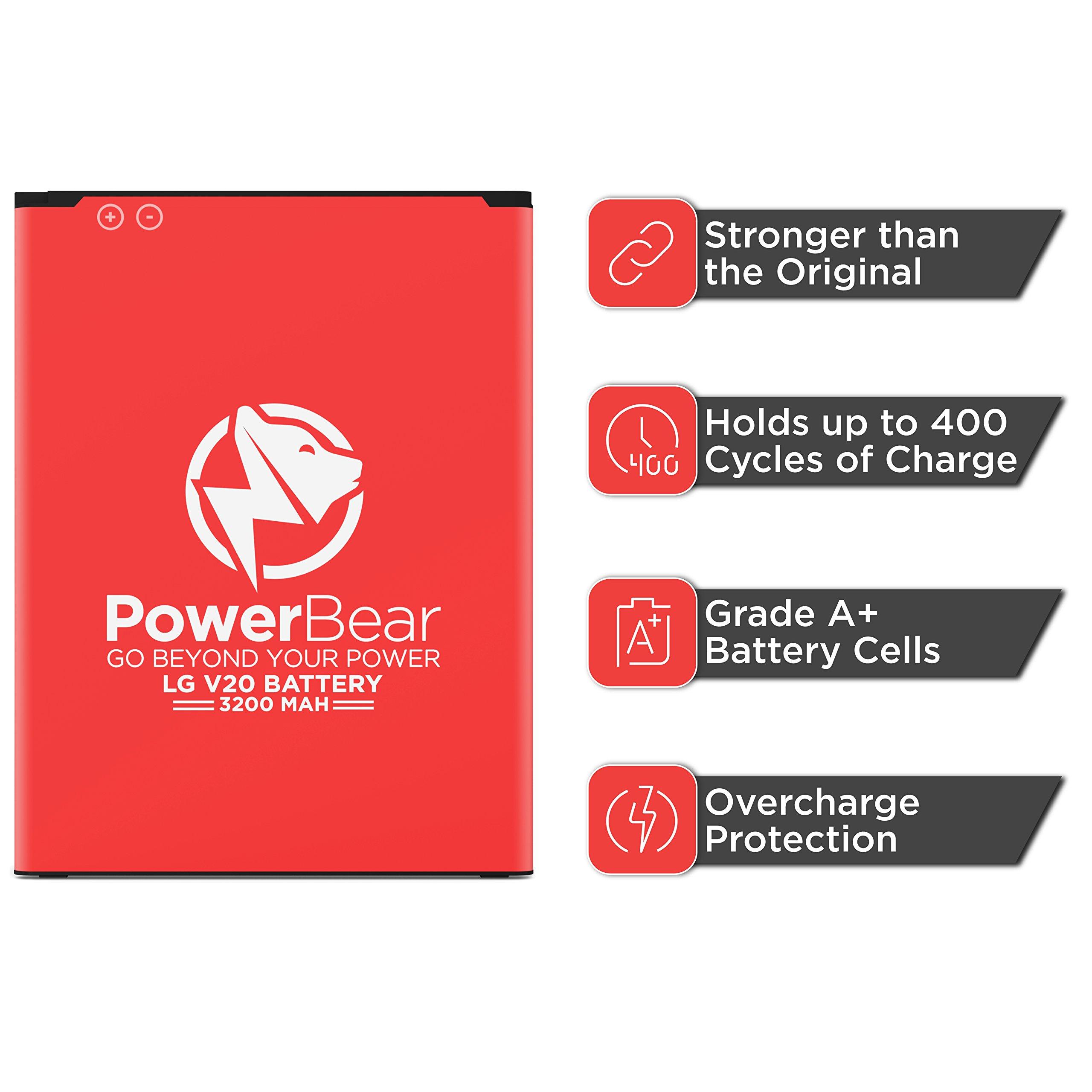 brand new 0e584 58d37 PowerBear LG V20 Battery [3200 mAh] Li-Ion Battery for The V20 ...